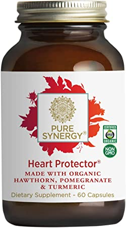 Pure Synergy Heart Protector | 60 Capsules | Made with Organic Ingredients | Non-GMO | Vegan | Natural Supplement for Heart Health