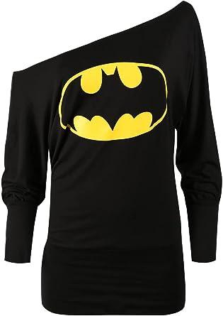 Corte largo vestido para mujer, diseño de Superman Batman un hombro Dénudée Comic Héro mango largo murciélago alto tamaño Grande negro 42: Amazon.es: Ropa y accesorios