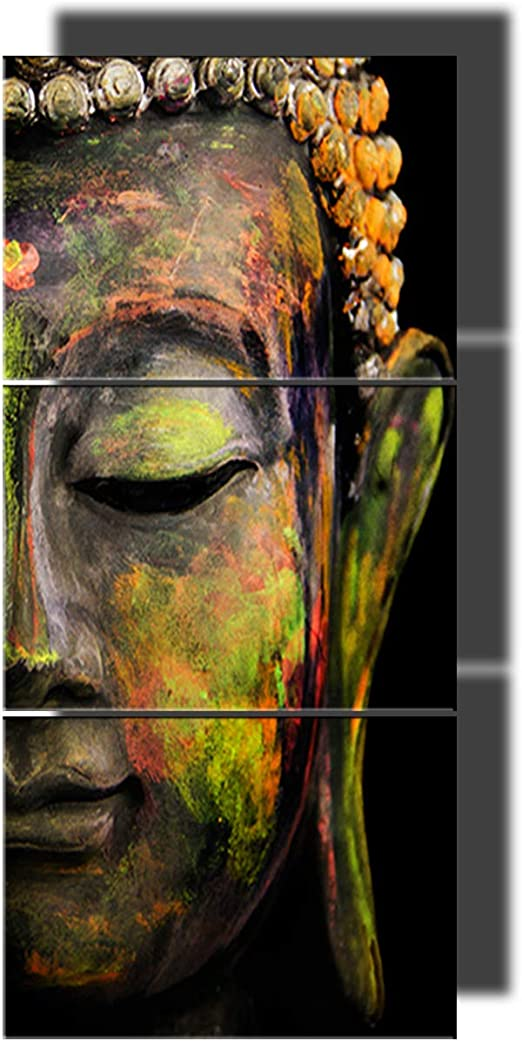 Framed Buddha Portrait Picture Canvas Poster Print Painting Wall Art Home Decor