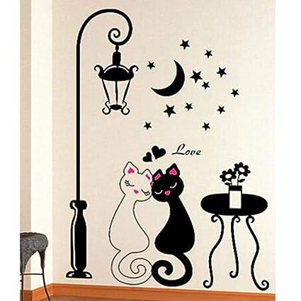 pets pipeliner sweetheart kat muurstickers woonkamer slaapkamer vensterglas deur decoratie verwijderbare muurstickers woninginrichting