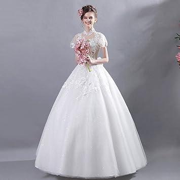 AN Vestido de novia, novia, estilo francés, viento, belleza, primavera y