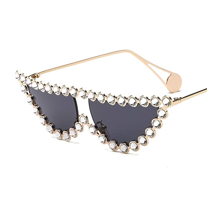 af7e331a92d2 Image Unavailable. Image not available for. Color  Women Cat Eye Diamond Shades  Sunglasses Luxury Rhinestone Jeweled Vintage Sunglasses