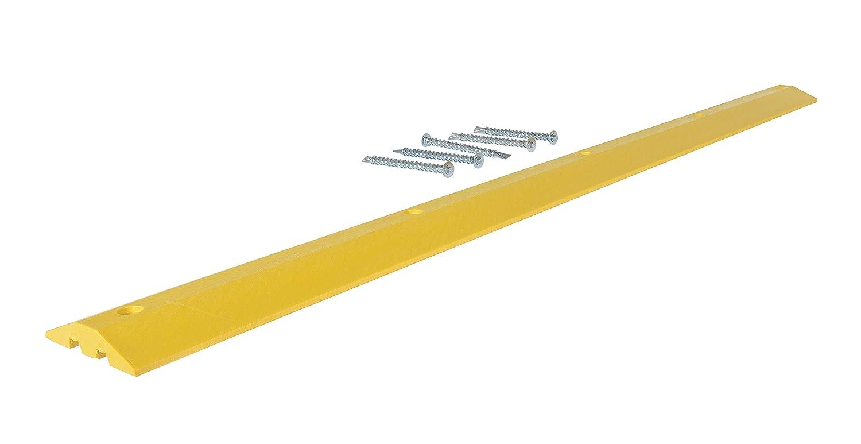 10 Width Vestil SBHA-48 Yellow Heavy Duty Speed Bump 48 Length Asphalt Hardware