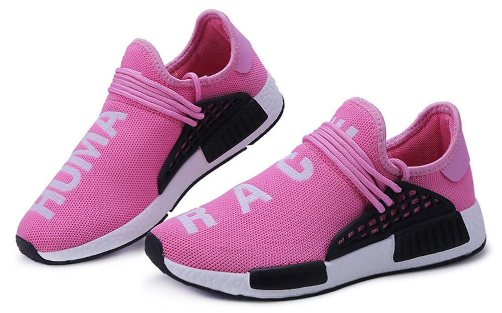 JiYe Men's Running Shoes Women's Free Transform Flyknit Fashion Sneakers B073PXKBK2 40 EU=7US-Men/8.5US-Women|Pink