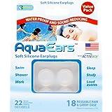 Aqua Ears Soft Silicone Earplugs 18 Pair