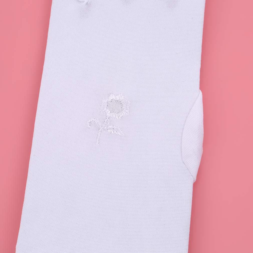 Noir LLZIYAN Gants Longs Fleur Brod/és /Él/égant Mitaines Gants Protection Solaire Cadeau Pour Les Femmes