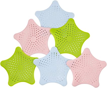 Loneflash Hair Catcher Drain Protector Ring Wraps Around Your Drains to Instantly Catch Every Hair for Pop-Up /& Regular Drains Green//Pink//Bule