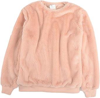 WSPLYSPJY Womens Warm Pullover Fuzzy Fleece Sweatshirt Hoodie