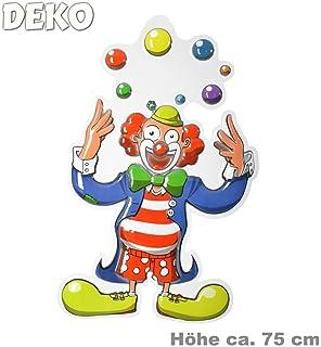 Karnevals Gigant Deko Clowns 3er Set Wandmasken Clowns Fur