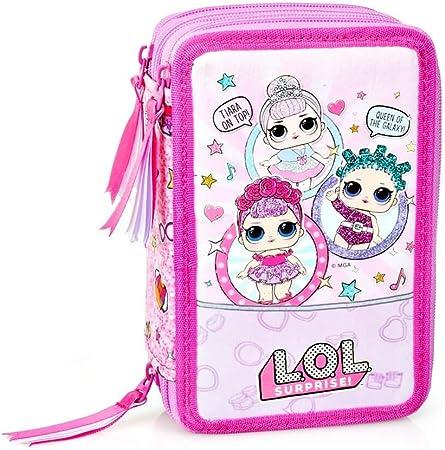 LOL Surprise!- Estuche L.o.l. 3 Cremalleras, Color Rosa, 96024: Amazon.es: Juguetes y juegos