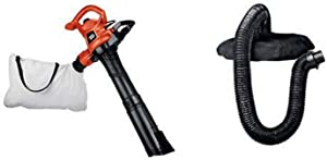 BLACK+DECKER 3-in-1 Electric Leaf Blower with Blower/Vacuum Leaf Collection System (BV3600 & BV-006L)