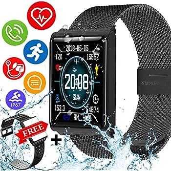 Amazon.com: Duperym Smart Watch Fitness Tracker with Blood ...