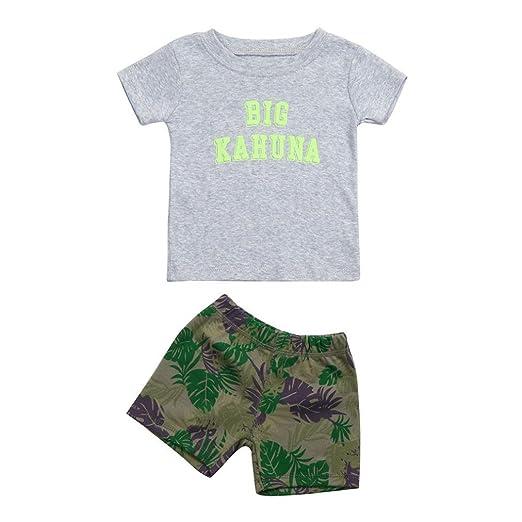 458e257fee7b Amazon.com  WARMSHOP Summer Kids Clothes
