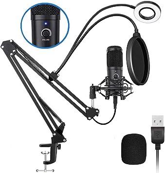 Amazon.com: Kit de micrófono condensador USB Podcast, NASUM ...