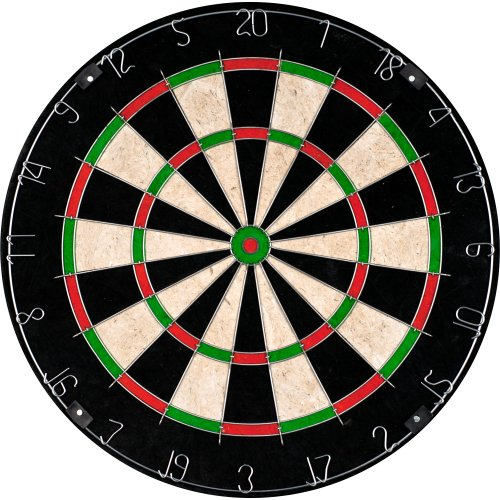 Bristle Dart Board, Tournament Sized Indoor Hanging Number Target Game for Steel Tip Darts- Dartboard with Mounting Hardware by Hey! - Tournament Board Game