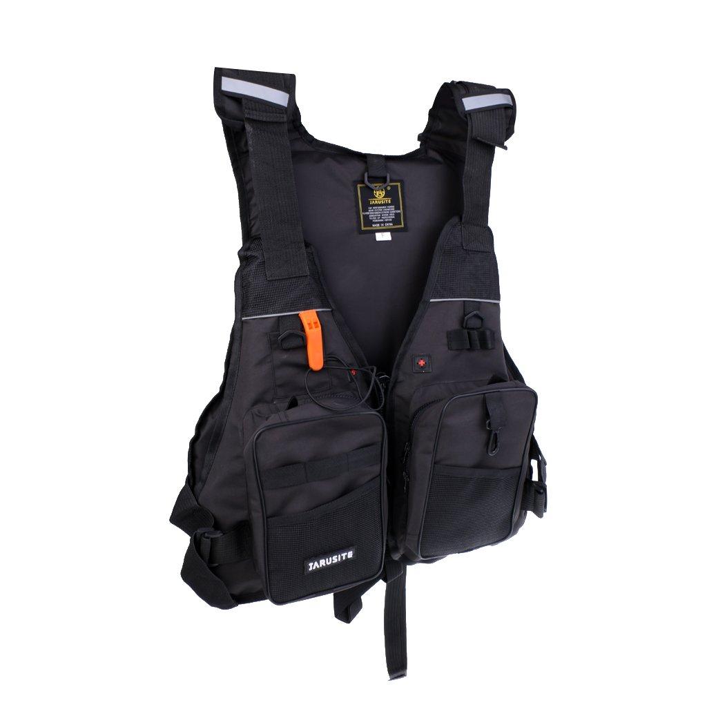 Black MonkeyJack Professional Water Sports Life Jacket Swimming Boating Surfing SUP Sailing Windsurfing Canoeing Vest Safety Flotation Device 5 Colors