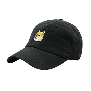 de06fb0c270 ChoKoLids Doge Dad Hat Cotton Baseball Cap Polo Style Low Profile 6 Colors  (Black) at Amazon Men s Clothing store
