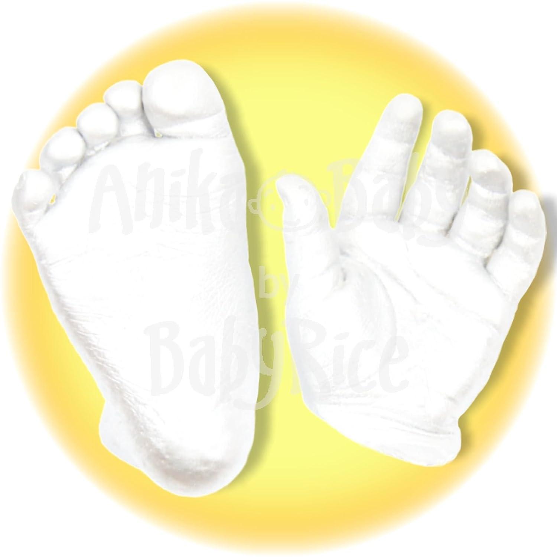 BabyRice Baby Casting Materials Easy Starter Kit Chromatic Alginate Stone Plaster 500g of Each Plus Instructions
