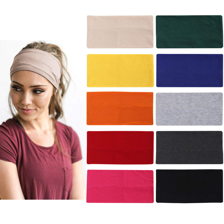 Workout Headbands,10pcs Yoga Headbands Elastic Workout Headbands For Man Thick Wide Headband For Running, Workout, Yoga, Junk
