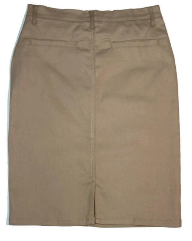 524bb78cb1c9b No Fuze Women s Uniform 21 inch Stretch Plus Size Twill Skirt (Run Small  Please Order a Size Bigger) at Amazon Women s Clothing store