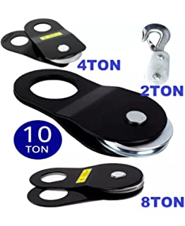 Noryb 9T Heavy Duty Winch Snatch Block Pulley Off Road 4x4 Recovery Ton Tonne