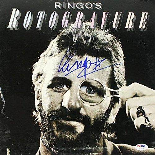 - Ringo Starr Rotogravure Signed Album Cover W/Vinyl The Beatles #U01339 - PSA/DNA Certified