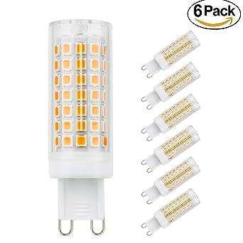 G9 bombillas LED, 6 unidades 5 W de ahorro de energía bombillas de luz no