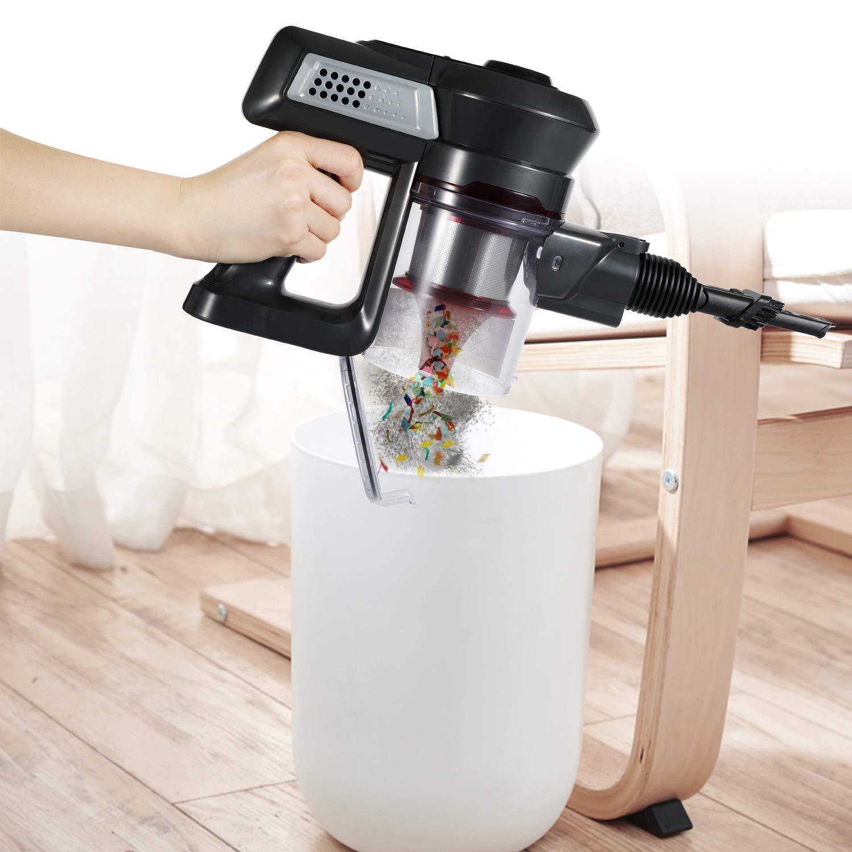 Clase de eficiencia energ/ética A+++ Aspirador de Mano Gris//Rojo Met/álico Intense 0.8 litros Aokin Escoba El/éctrica Sin Cable Especial Mascotas Y Alergias Potencia 120W