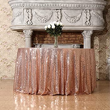 "Amazon.com: ShiDianYi 72"" round champagne Sequin ..."