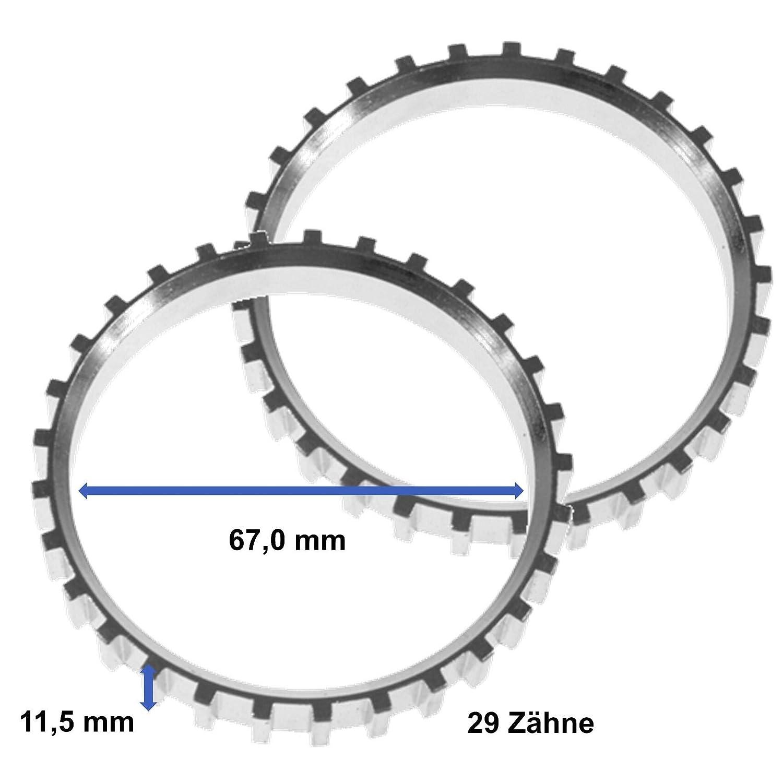 2x Sensorring ABS Vorderachse beidseitig links oder rechts