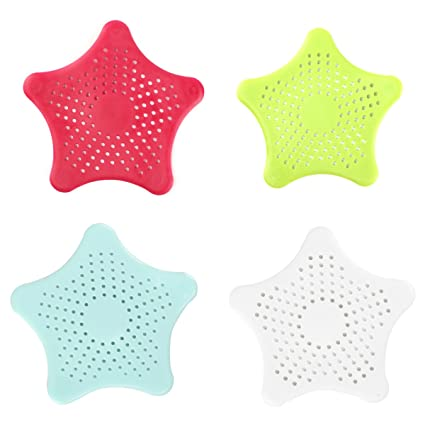 UK STOCK Silicone Sink STRAINER Hair Trap Shower Plug Hole Waste Catcher Stopper