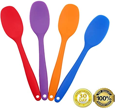 Always Your Chef 4 Pack 8 2 Inches Small Premium Silicone Mixing Spoons For Kitchen Cooking Baby Baking Mixing Salad And More 2 Random Colors Amazon Ca Home Kitchen