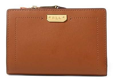 LAUREN Ralph Lauren Women s Dryden New Compact Wallet Field Brown Monarch  Orange One Size ac29322a7467d