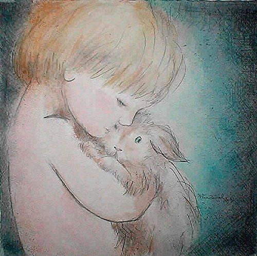 Aquarell Wasserfarbe Bleistift Zeichnung Porträt Eines Kindes Und