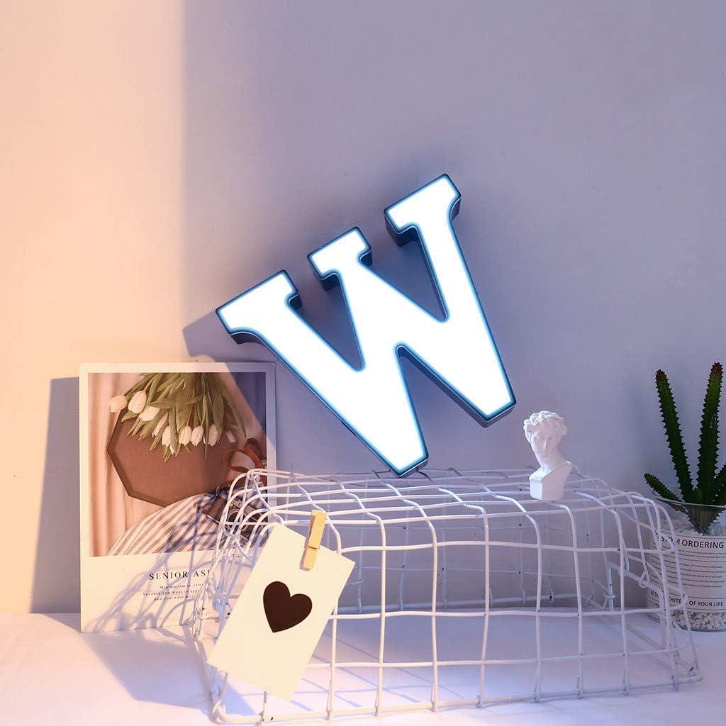 Celucke Light Letters 27 English Letter Light LED Shape Decorative Night Alphabet Letter Lights Letters Creative Plastic Lamp Decor for Home Party Bar Wedding Festival Decorativ