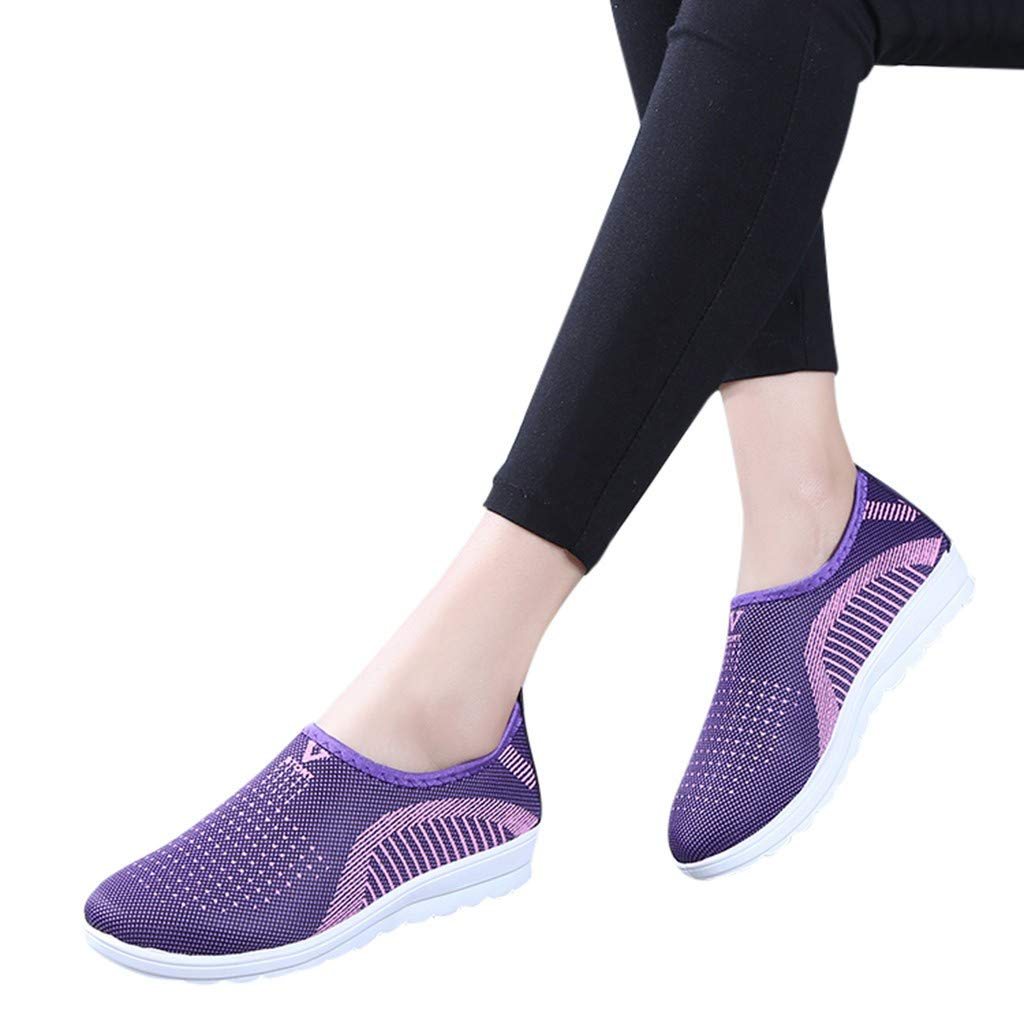 Women's Casual Shoes,Limsea Casual Play Fashion Sneakers Shoes for Women Athletic Walking Shoes Casual Mesh-Comfortable Work Sneakers Canvas Sneakers Solid Colors Low Top Cut Lace up Flat Fashion