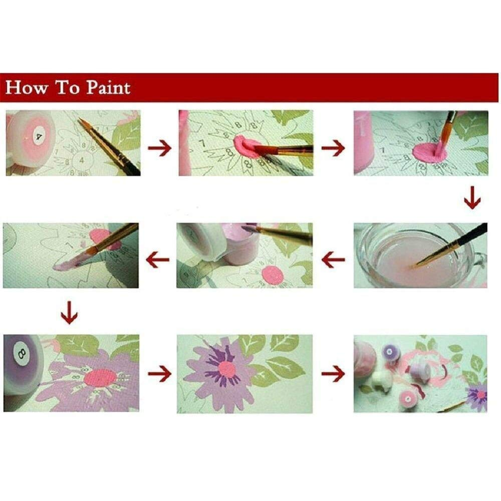 PAAANING Sakura Woman Pittura ad Olio By Numbers Drawing Pictures Cotton Home Decoration Amico Dipinto