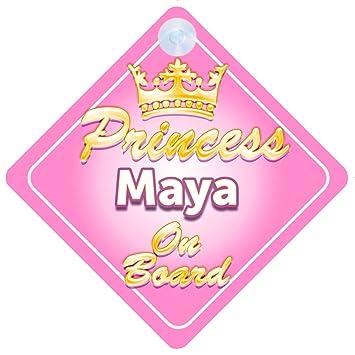 Amazon.com: Corona de Princesa Maya on board personalizado ...