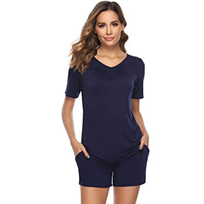 ARBLOVE Pijama Algodon Mujer Verano 2 pcs Conjuntos, Suave Comodo y Acogedor: Ropa y accesorios