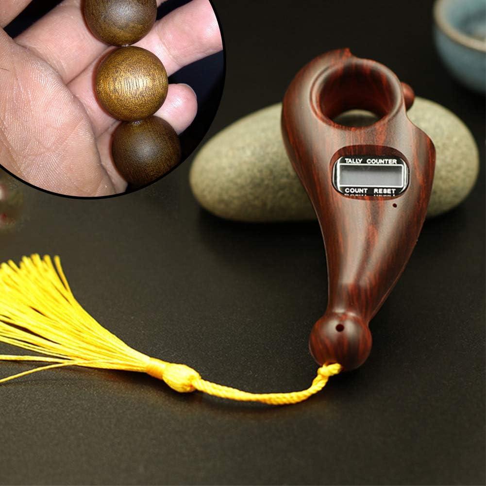 Entspannung GCDN Digitalz/ähler Buddha Beads Counter buddhistischer buddhistischer Z/ähler tragbarer Mini-Sprechgesang elektronische Z/ählmaschine f/ür buddhistische Meditation aktive Finger