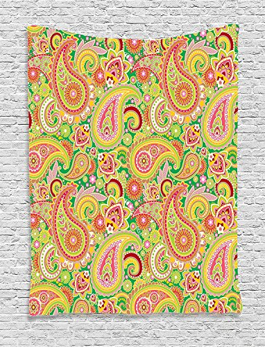 Supersoft Fleece Throw Blanket Paisley Traditional Persian Paisley Pattern Print With Eastern Ethnic Elements Vintage Home Multi