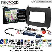 Volunteer Audio Kenwood Excelon DNX994S Double Din Radio Install Kit with GPS Navigation Apple CarPlay Android Auto Fits 2003-2007 Cadillac CTS, 2004-2006 SRX