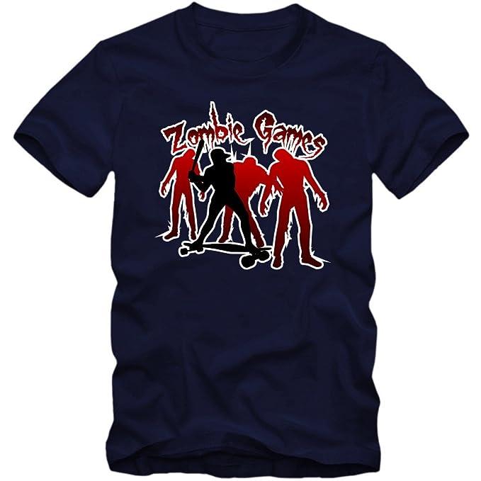 Shirt Happenz Zombie Game Camiseta | End Time | Hombre | Postapocalyptic | Baseball | Longboard