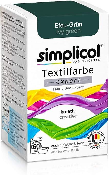 Simplicol Expert Fabric Dye Tinte de Coloración para Textiles: Lavado a Mano o Lavadora - Tiñe y Restaura Sus Telas y Ropa - Verde Hiedra
