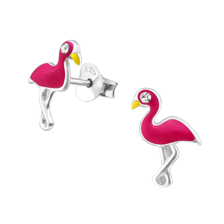 c980a735 GH * Kids Cristal Flamingo Pendientes Plata de ley 925 pendientes ...