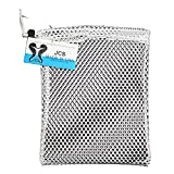 JCS Nylon Mesh Drawstring Bag, Approx. 8inch x 10inch, White