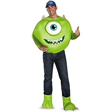 623bbcf3568b Amazon.com  Disguise Deluxe Monsters Inc. Mike Adult Costume  Clothing
