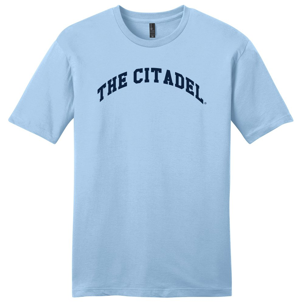 Ice Blue Campus Merchandise NCAA Citadel Bulldogs Arch Soft Style T-Shirt Large
