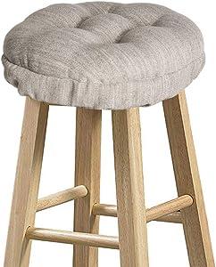 "baibu Stool Covers Round, Super Soft Round Bar Stool Cushion Covers Seat Cushion - Cushion Only (Beige, 14"" (35 cm))"