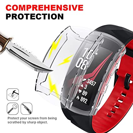 Haojavo Screen Protector for Samsung Gear Fit2 Pro Smartwatch, Soft TPU All Around Full Protective Protector Case for Samsung Gear Fit2 Pro Smartwatch ...